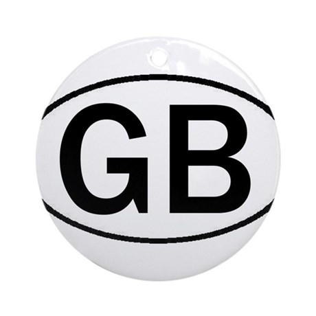 GREAT BRITAIN OVAL STICKERS & Ornament (Round)