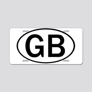 GREAT BRITAIN OVAL STICKERS & Aluminum License Pla