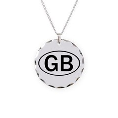 GREAT BRITAIN OVAL STICKERS & Necklace