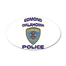 Edmond Police Department 22x14 Oval Wall Peel
