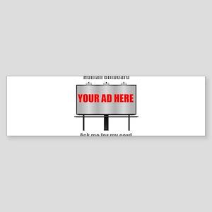 Human Billboard Sticker (Bumper)