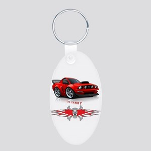 Eye Candy Aluminum Oval Keychain