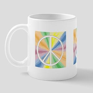 Tie Dyed Peace Symbol Mug
