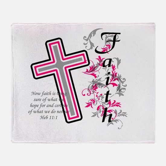 Faith with cross Throw Blanket