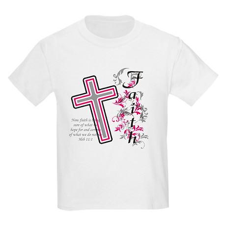 Faith with cross Kids Light T-Shirt