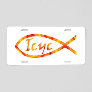 Jesus Fish Ukraine Aluminum License Plate