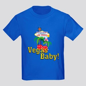 Vegas Baby! Kids Dark T-Shirt