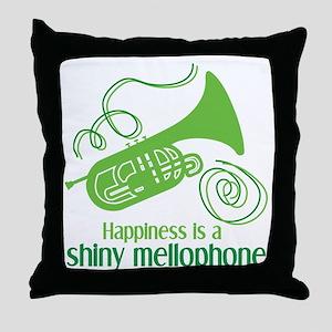 Shiny Mellophone Throw Pillow