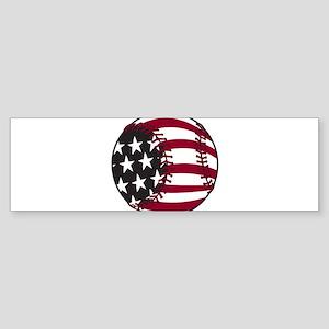 Flag Baseball Sticker (Bumper)