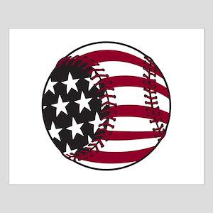 Flag Baseball Small Poster