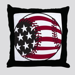 Flag Baseball Throw Pillow