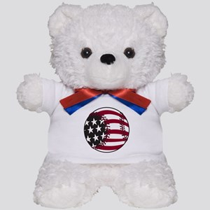 Flag Baseball Teddy Bear