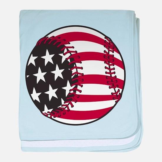Flag Baseball baby blanket