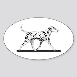 Dalmatian Sticker (Oval)