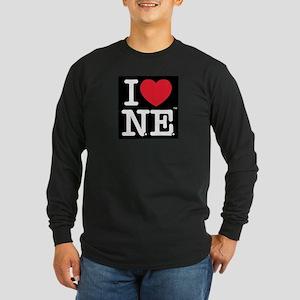 I Love NE Long Sleeve Dark T-Shirt