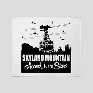 Skyland Mountain Souvenir Throw Blanket