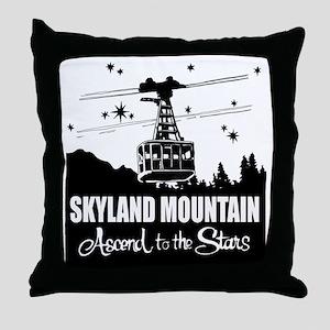 Skyland Mountain Souvenir Throw Pillow