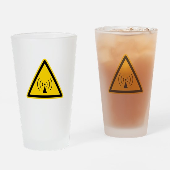 RF Warning Sign Pint Glass
