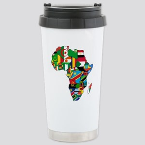 Flags of Africa Stainless Steel Travel Mug