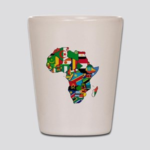 Flags of Africa Shot Glass