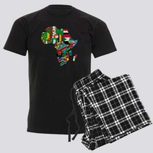 Flags of Africa Men's Dark Pajamas