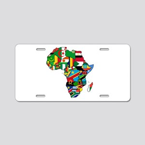 Flags of Africa Aluminum License Plate