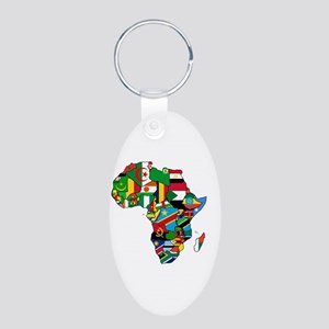 Flags Of Africa Aluminum Oval Keychain Keychains