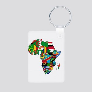 Flags Of Africa Aluminum Photo Keychain Keychains