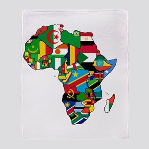 Flags of Africa Throw Blanket