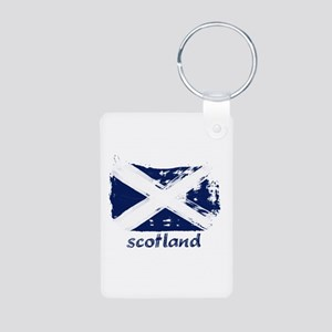 Scotland Aluminum Photo Keychain