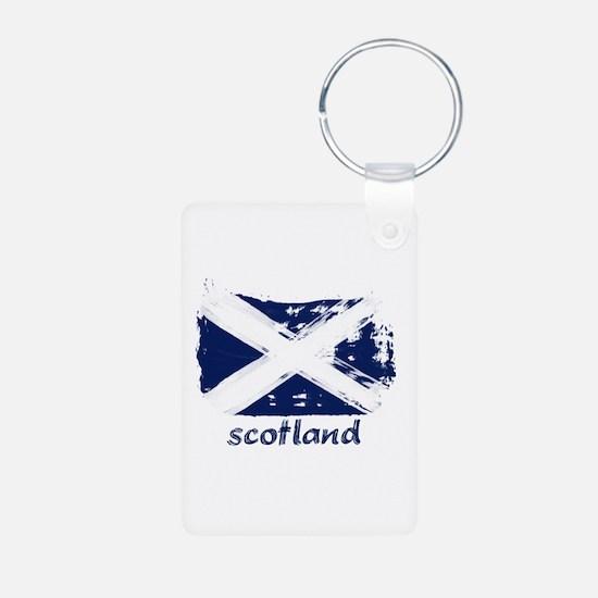 Scotland Aluminum Photo Keychain