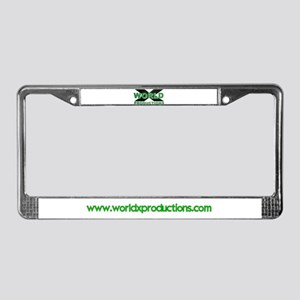 World X License Plate Frame with web address