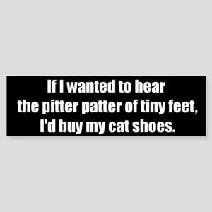 Cat Shoes (Bumper Sticker)