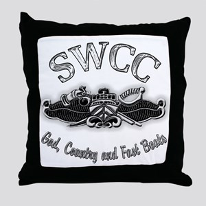 USN Navy SWCC Badge Throw Pillow