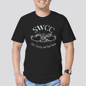 USN Navy SWCC Badge Men's Fitted T-Shirt (dark)
