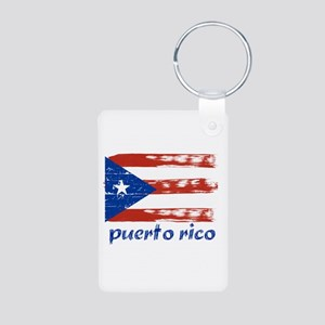 Puerto rico Aluminum Photo Keychain