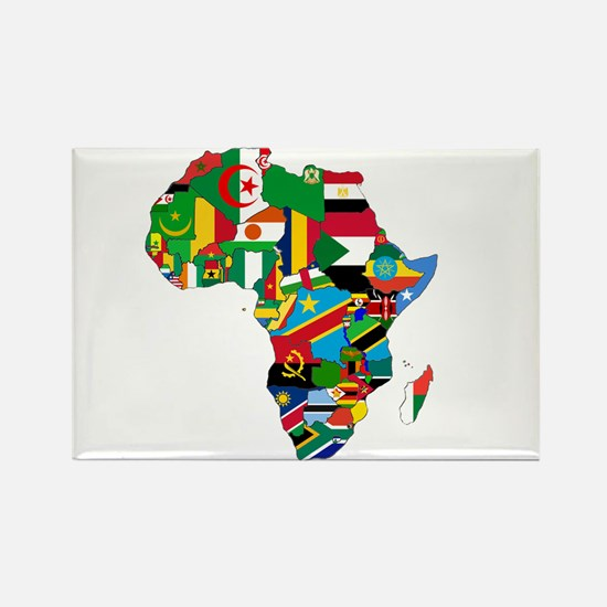 Flags of Africa Rectangle Magnet