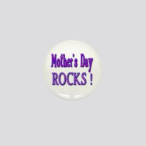 Mother's Day Rocks ! Mini Button