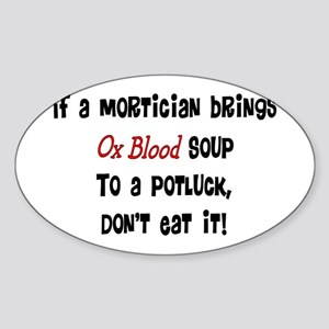 Funeral Director/Mortician Sticker (Oval)