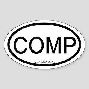 """COMP"" Sticker (Oval)"