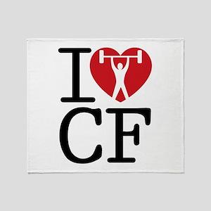 I Love CF Throw Blanket
