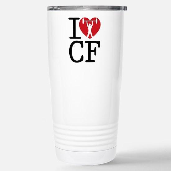 I Love CF Stainless Steel Travel Mug