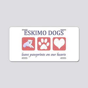 Eskimo Dog Lover Aluminum License Plate