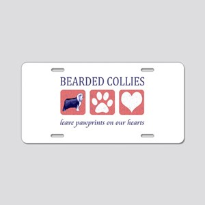 Bearded Collie Lover Gifts Aluminum License Plate