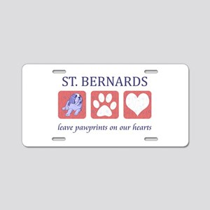 Saint Bernard Lover Aluminum License Plate