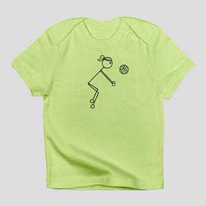 Volleyball Girl Black No Word Infant T-Shirt