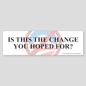 Change Hoped For, Sticker (Bumper)