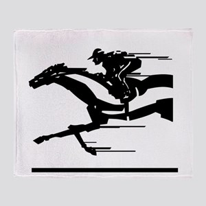 Horse Racing Throw Blanket