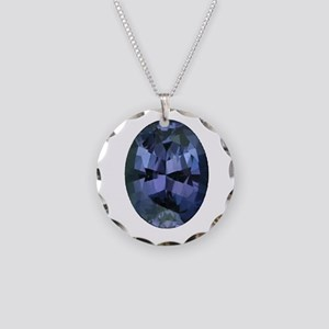 """""""Alexandrite Oval"""" Necklace Circle Charm"""