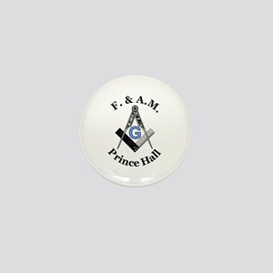 Prince Hall Square and Compass Mini Button
